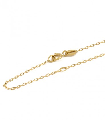 Double Circle Smooth necklace in Gold