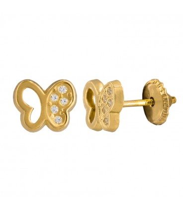 18k gold baby earrings