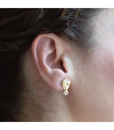 Gold hand shape earrings