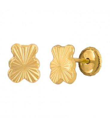 18k Gold Bears Earrings