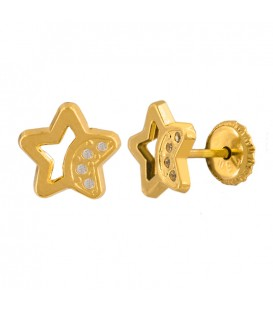 Star earrings with zirconia
