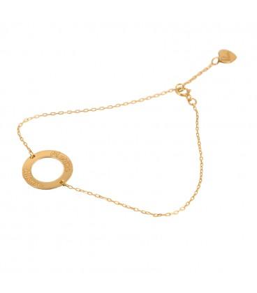 Customizable gold bracelet