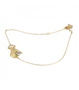 Zirconite gold hand bracelet