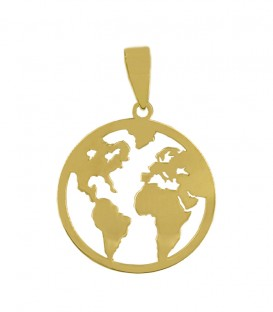 18k gold world pendant