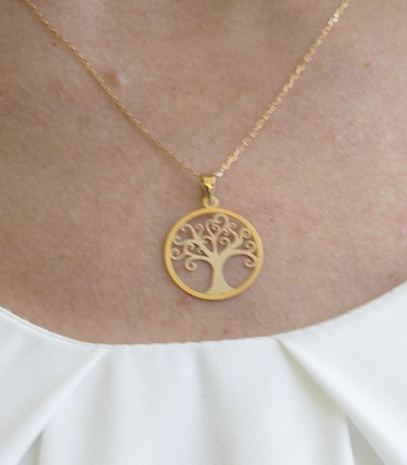 Colgante árbol de la vida oro