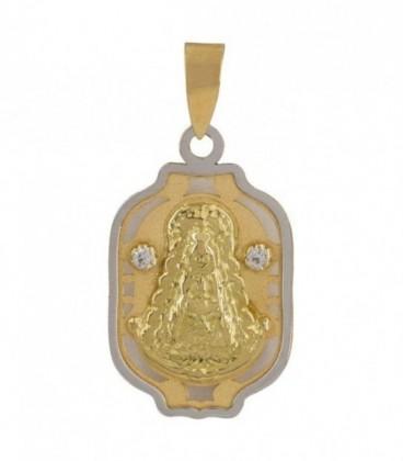 Médaille Vierge du Rocio en or avec zircons