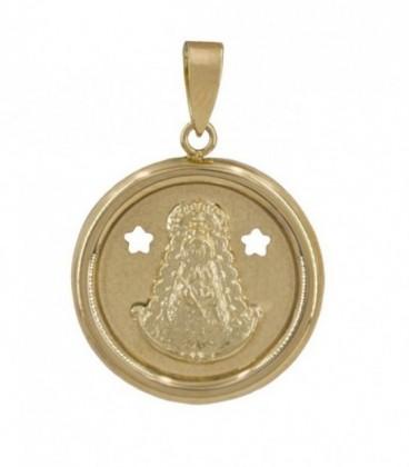 medalla circular virgen oro