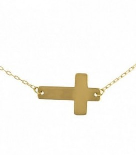 Necklace 18K Gold Cross (16x10.72mm)