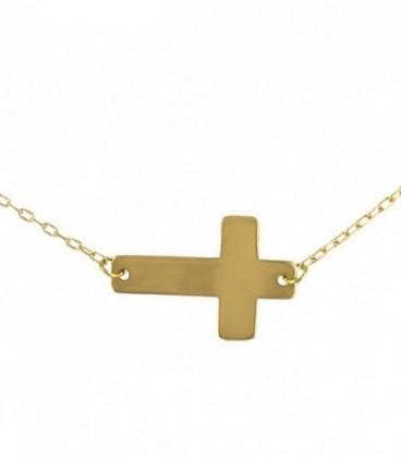 Ras-du-cou croix en or de 18K (16x10,72mm)