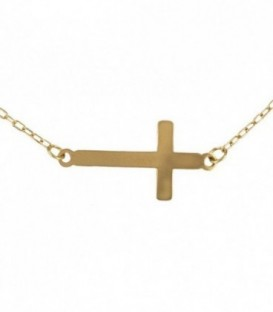 Ras-du-cou avec croix en or 18k (18x9mm)