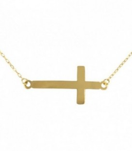 Necklace 18K Gold Cross (27x12.50mm)