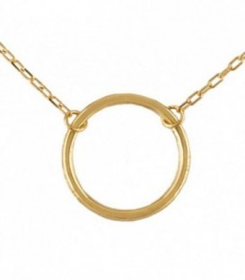 Necklace Circle Gold 18K