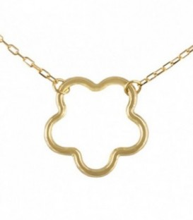 Necklace Golden Flower 18K