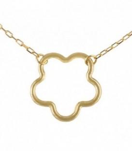 Necklace Golden Flower 18K
