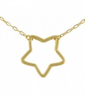 Gargantilla Estrella Oro 18K