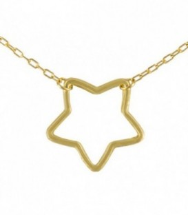 Necklace 18K Gold Star