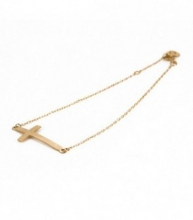 Bracelet Cross 2.50mm x 27mm Gold 18k