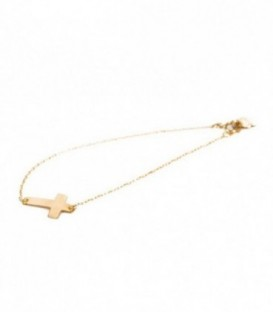 Bracelet Cross 10.70mm x 16mm Gold 18k