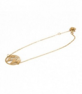 Gold World Ball Bracelet
