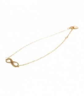 Bracelet infini en or 18K personnalisable