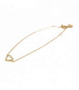 Bracelet Heart Set Gold 18K