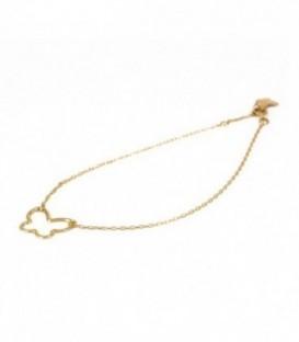 pulsera mariposa oro