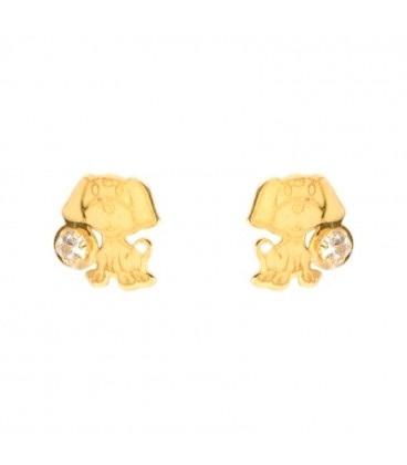 Doggy Gold Earrings