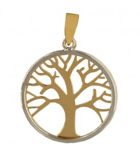 Pendant Tree of Life Bicolor 18K