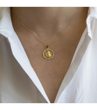 Médaille de la Vierge de Rocio circulaire