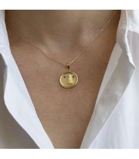 Médaille de la Vierge de Rocio en or jaune 18K