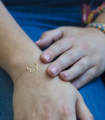 18k Gold Butterfly Bracelet