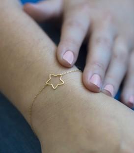 Pulsera Estrella Oro 18K