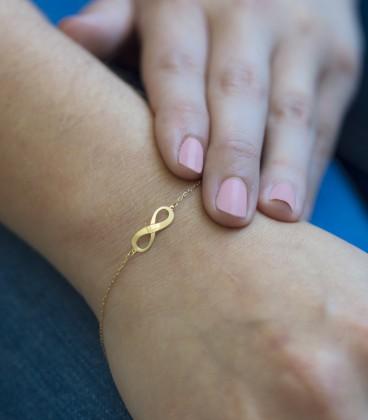 pulsera infinito oro