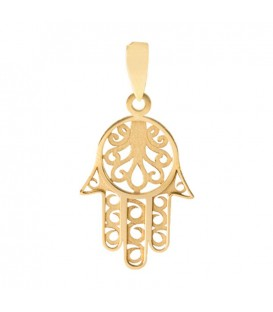18K Gold Hand pendant in 18K Gold