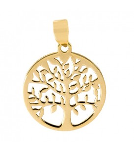 Tree of Life Pendant in Gold 18K Carved