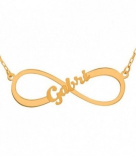 Infinity necklace with satin Customizable name