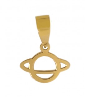 Gold saturn charm pendant