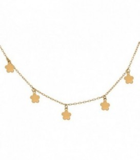 Necklace Charms flower daisy 18k