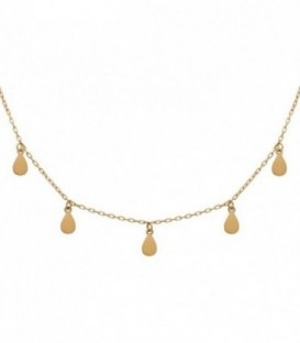 Necklace Charms 18k gold tears with adjustable chain