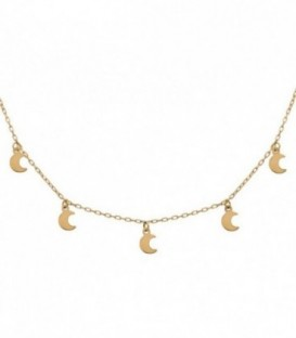 Necklace Charms Moons gold 18k