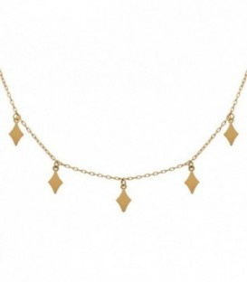 Necklace 18k gold diamond Charms with adjustable chain