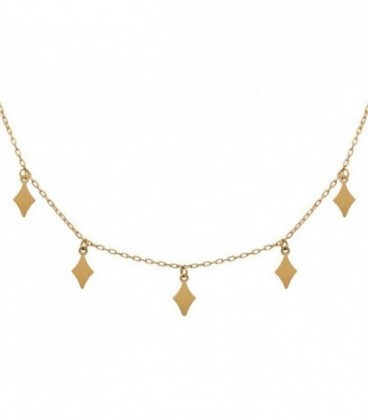 18k gold diamond Charms necklace with adjustable chain