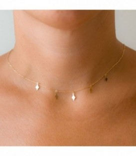 Charms diamond choker gold 18k