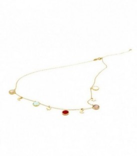 Golden necklace Stones Colors