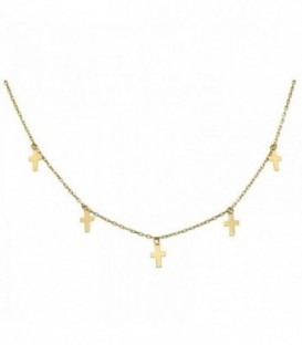Choker 18K gold crosses