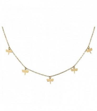 18K gold dragonfly necklace