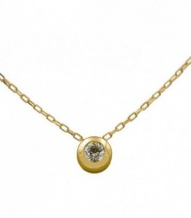 18K gold prong necklace