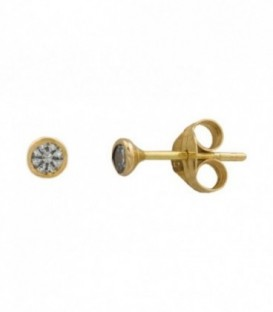 Earrings Gold with 18K Gold zirconia