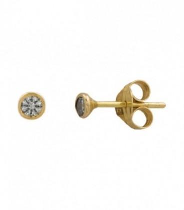 Boucles d'oreilles en or avec zircon en or 18K
