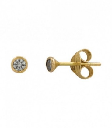 Gold earrings with 18k zirconia